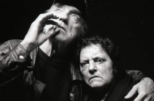 """""""Mère courage""""mise en scène avec Bernard Louane et Michèle Gaudin. Vernissage d'exposition rencontres Ukrainiennes à Bitche à Nantes. Automne 2010."""