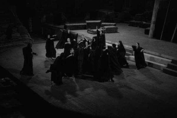 Répétion nocturne au théatre de Dyonisos, à l'Acropole-Athènes